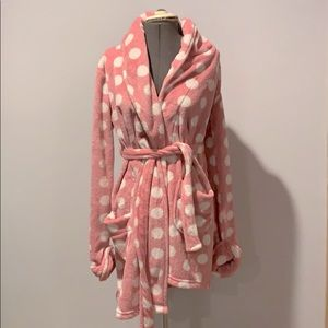 Victoria's Secret Pink Polka Dot Robe